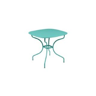 Table Opéra + FERMOB bleu lagune L82xl82xh74 659437