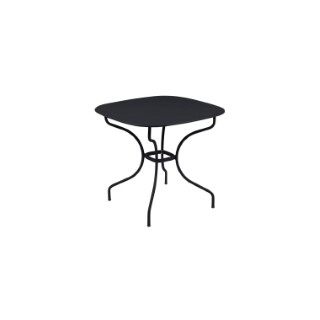 Table Opéra + FERMOB carbone  L82xl82xh74 659438