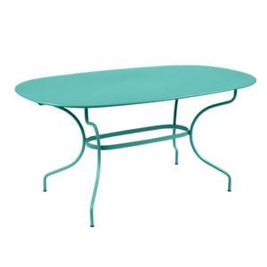 Table Opéra + FERMOB bleu lagune L160xl90xh74 659453