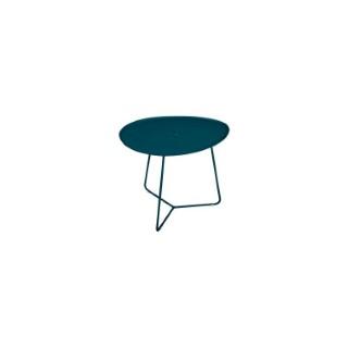 Table basse cocotte FERMOB bleu acapulco L44,5xl55xh43,5 659509