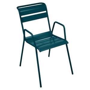 Fauteuil Monceau FERMOB bleu acapulco L52xl64,5xh85 659513