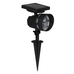 Spot solaire Saint Malo noir 11x12,5x39,5 cm à LED blanc chaud 659559