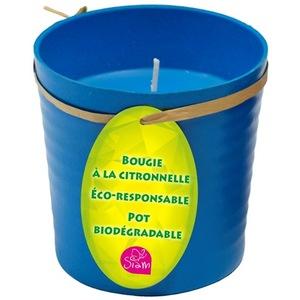 Bougie à la citronnelle en pot eco responsable aux 4 coloris responsables BOUGIE CITRONNELLE en Pot ECO RESPONSABLE 4 coloris assortis 659604