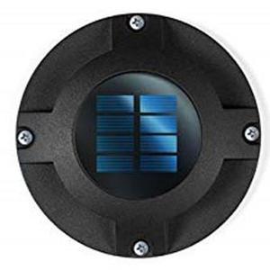 Eclairage solaire de sol Rocky en métal noir à LED 5 lumens 12x12 cm 659606