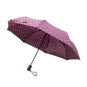 Parapluie lorient bordeaux en acier et polyester 659670