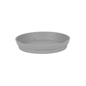 Soucoupe Toscane en polypropylène coloris gris béton Ø 22,5 x 3,8 cm 659734