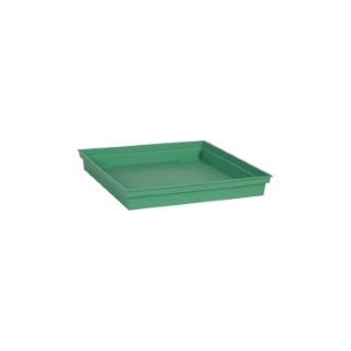 Soucoupe Toscane carrée coloris vert jungle 27 x 27 x 3 cm 659763