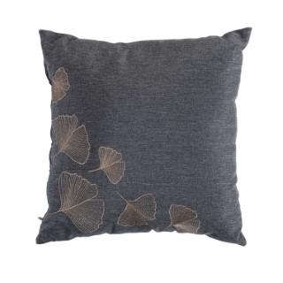 Coussin Ginkgo coloris gris 15 x 45 x 45 cm 659853