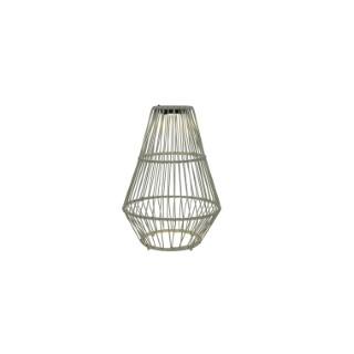 Suspension solaire grise à LED blanc chaud Ø 37,5 x H 54,5 cm 659855