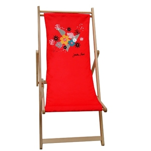 Chilienne amovible Floralies Rouge en polyester 659970