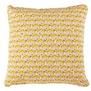 Coussin Envie d'Ailleurs Cocotiers Fermob coloris miel 70 x 70 cm 660074