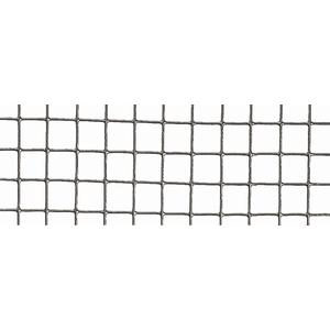 Grillage Fensanet Maille 1,27x 1,27 cm Fer galvanisé Gris L2,5 m x H50 cm 660357