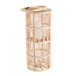 Lanterne en rotin avec verre Ø 30 cm x 72 cm 660381