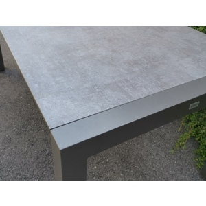Table extensible Stern alu anthracite & HPL gris 174/214/254 x 90 cm 660806