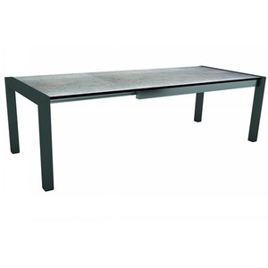Table extensible Stern alu anthracite & HPL smoky 174/214/254 x 90 cm 660807
