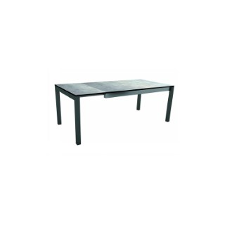 Table extensible Stern alu anthracite & HPL ciment 174/214/254 x 90 cm 660808