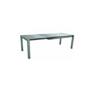Table extensible Stern alu graphite & HPL gris 174/214/254 x 90 cm 660811