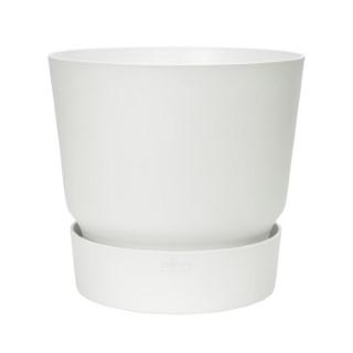 Pot Greenville rond de 13 L coloris blanc Ø 30 x H 28 cm 660845