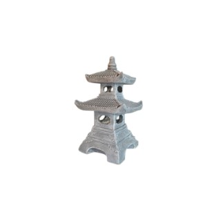 Pagode en ciment coloris gris 30 x 30 x 50 cm 661314