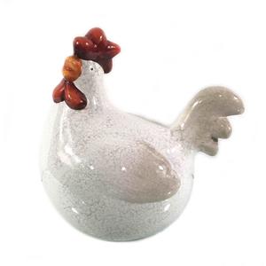 Statue de jardin poule en céramique 28 x 20 x 27 cm 661411
