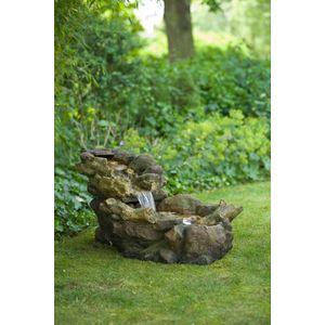 Fontaine Aspen chute d'eau en rochers 105x50x50 cm 661579