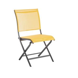 Chaise Élégance en aluminium moutarde 92 x 49 x 60 cm 661788