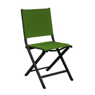 Chaise pliante Max en aluminium verte 90 x 45 x 52 cm 661790