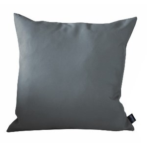 Coussin déco Sandre couleur gris - 40x40 cm 661796