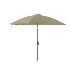 Parasol Pagode à manivelle couleur argile - Ø 3 m 661814