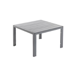 Table basse Cortes coloris grey en aluminium 62 x 62,5 x 40 cm 661820