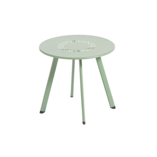 Table basse coloris amande en aluminium Ø 40 cm 661821