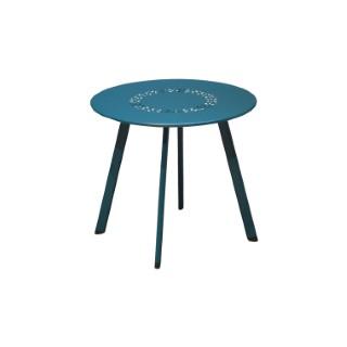 Table basse coloris bleu en aluminium Ø 45 cm 661822