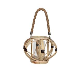 Lanterne Bambou PM Ø28xH20,5 cm 661848
