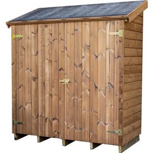 Abri range-tout bois massif THE 175 x 72 x 174 cm livré 662019