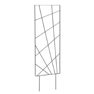 Treillis à piquer Mandala Fer plat Gris 30x100 cm 662195
