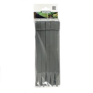 Ancres bordure de jardin x10 PP recyclé Gris 1,9x1,8x26,7 cm 662235