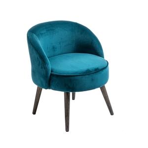 Fauteuil honoré bleu canard Ø 54 x H 64 cm 662260