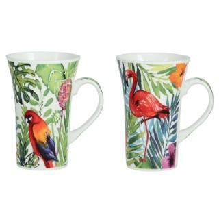 Coffret 2 mugs Jungle 55 cl 662301