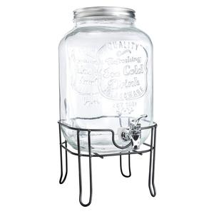 Fontaine à jus avec support en verre de 8 L 662321