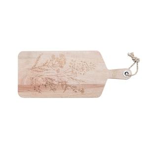 Planche à découper en manguier marron à motifs gravés 24x58x2,5 cm 662381