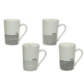 Mug lignes porcelaine 7,7x11x11,8 cm 662389