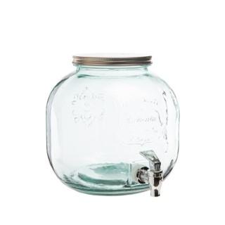 Distributeur à boisson en verre recyclé Ø23 xH24 cm 662451