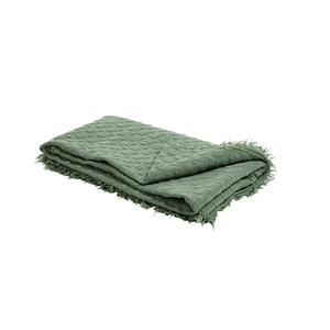 Plaid en coton matelassé vert 140x180 cm 662466