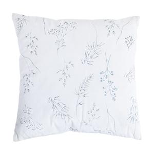 Coussin carré velours gris motifs végétaux 45 x 45 cm 662469