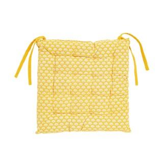 Coussin de chaise en coton à motif floral multicolore 40x40 cm 662473