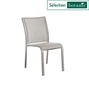 Chaise empilable Filao en aluminium et Batyline coloris beige 662570