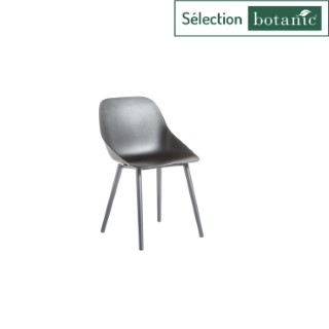 Chaise coque coloris noir Ora en aluminium et polypropylène 57 x 49 x 82,5 cm 662576