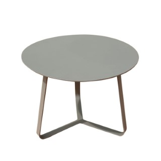Table basse en aluminium coloris beige Ø45 x H 35 cm 662583
