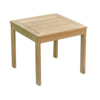Table basse carrée Costa en teck 50 x 50 x 45 cm 662587