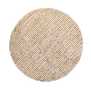 Tapis en jute avec liseré coton coloris beige Ø 120 cm 662689